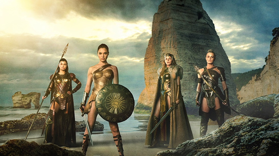 Robin Wright, Connie Nielsen, Gal Gadot, and Lisa Loven Kongsli as Amazons in Wonder Woman (Source: IMDB)